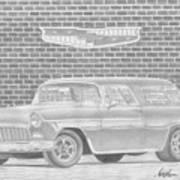 1955 Chevrolet Nomad Classic Car Art Print Poster