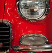 1955 Chevy Bel Air Headlight Poster by Sebastian Musial