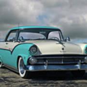 1955 Ford Fairlane Victoria Poster