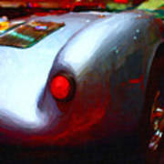 1955 Porsche 550 Rs Spyder . Painterly Style Poster