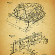 1956 Bulldozer Patent Poster