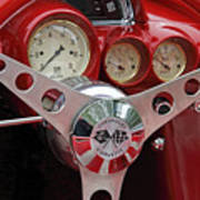 1956 Corvette Dashboard Poster