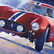 1956 Ferrari 250 Gt Berlinetta Tour De France Poster