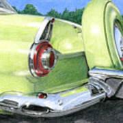 1956 Ford Thunderbird Poster