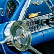 1956 Ford Thunderbird Steering Wheel And Emblem Poster