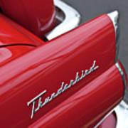 1956 Ford Thunderbird Taillight Emblem 2 Poster