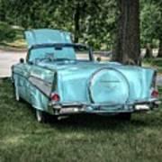 1957 Bel Air  Blue Convertible  Poster