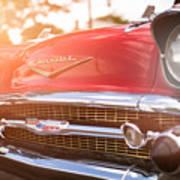 1957 Chevrolet Bel Air Sunset Poster