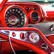 1957 Chevy Bel Air Stering Wheel  Poster