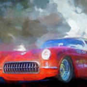 1957 Corvette Hot Rod Poster