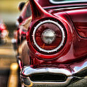 1957 Ford Thunderbird Red Convertible Poster