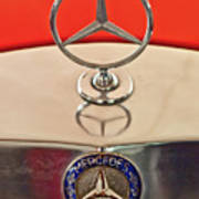 1957 Mercedes-benz 220 S Hood Ornament Poster