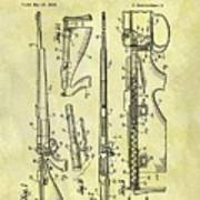 1957 Rifle Patent Poster