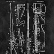 1957 Rifle Patent Illustration Poster