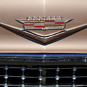 1958 Cadillac Eldorado Barritz Emblem Poster