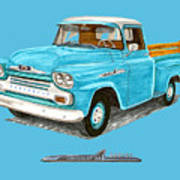 Apache Pick Up Truck Poster