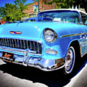 1955 Chevy Baby Blue Poster