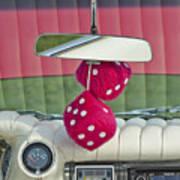 1959 Cadillac Eldorado Fuzzy Dice Poster