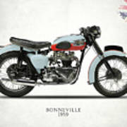1959 T120 Bonneville Poster