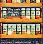 1960 70 Spice Rack Poster