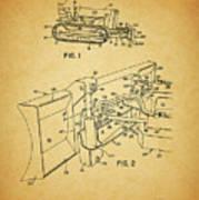 1960 Bulldozer Patent Poster
