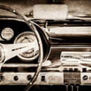 1960 Maserati 3500 Gt Spyder Steering Wheel Emblem -0407s Poster