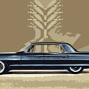 1961 Cadillac Fleetwood Sixty-special Poster by Bruce Stanfield