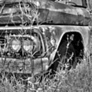 1961 Chevrolet Apache 10 Black And White 4 Poster