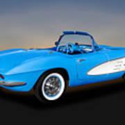 1961 Chevrolet C1 Corvette  -  61chvetcv350 Poster
