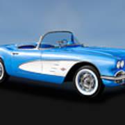 1961 Chevrolet C1 Corvette   -   61vettecv800 Poster