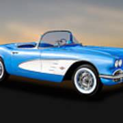 1961 Chevrolet C1 Corvette Convertible   -   61vette700 Poster