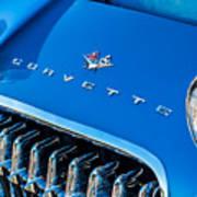 1961 Chevrolet Corvette Zob Grille Poster