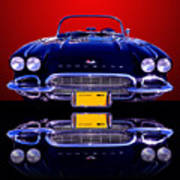 1961 Chevy Corvette Poster