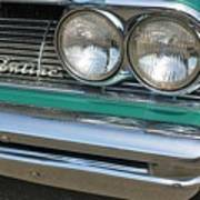 1961 Pontiac Catalina Grille With Headlights And Logo Poster