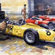 1961 Spa-francorchamps Ferrari Garage Ferrari 156 Sharknose  Poster