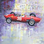 1962 Ricardo Rodriguez Ferrari 156 Poster