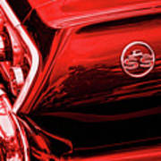 1963 Chevrolet Impala Ss Red Poster