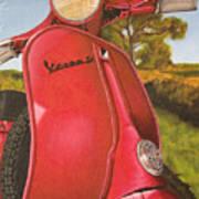 1963 Vespa 50 Poster