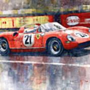 1964 Lemans 24 Ferrari 275p Ludovico Scarfiotti  Poster