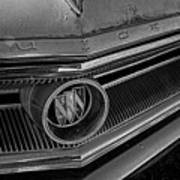 1965 Buick Hood Ornament B And W Poster