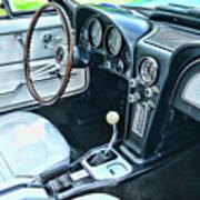 1965 Corvette Inside The Cockpit Poster