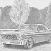 1965 Ford Falcon Classic Car Art Print Poster