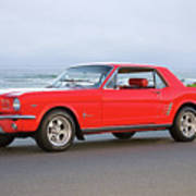 1965 Ford Mustang 'red Coupe' II Poster