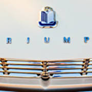 1965 Triumph Tr-4 Hood Ornament Poster
