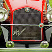 1966 Alfa Romeo Quattro Route 4r Grille Poster