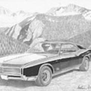 1966 Buick Riviera Classic Car Art Print Poster