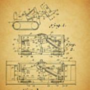 1966 Bulldozer Patent Poster
