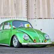 1966 Custom Green Beetle Poster
