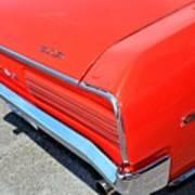 1966 Pontiac Gto Tail Lights And Logos Poster