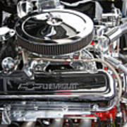 1967 Chevrolet Chevelle Ss Engine Poster
